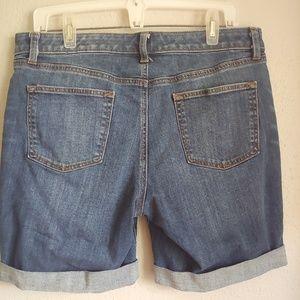 Talbots Shorts - Talbots Girlfriend Cut Off Denim Jean Shorts